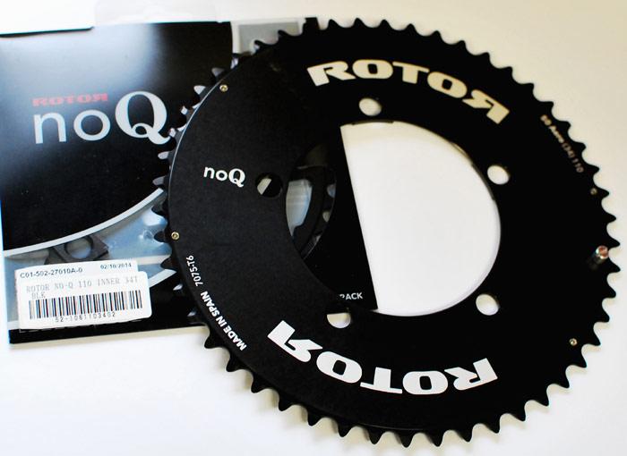 ROTOR NO-Q AERO エアロ アウター インナー セット 3Dクランクシリーズにマッチする 円 チェーンリング PCD110 送料無料