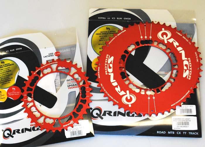 ROTOR Q-Ring レッド 5アーム PCD110 エアロアウター + インナー セット 全国送料無料