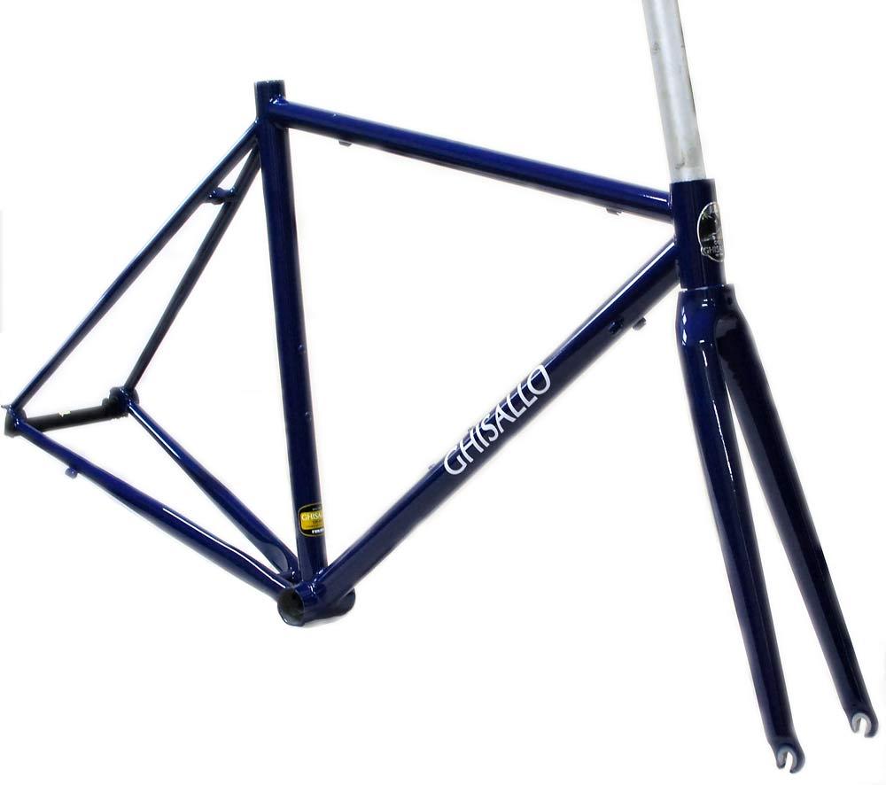 ギサロ 306ロード クロモリ ロードフレーム セット カーボンフロントフォーク付属 クラシックなクロモリ自転車に