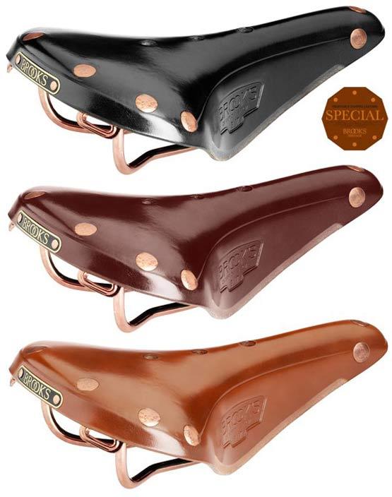 BROOKS B17 SPECIAL 英 ブルックス B17 スペシャル 革 サドル 銅鋲と銅メッキレールが美しい