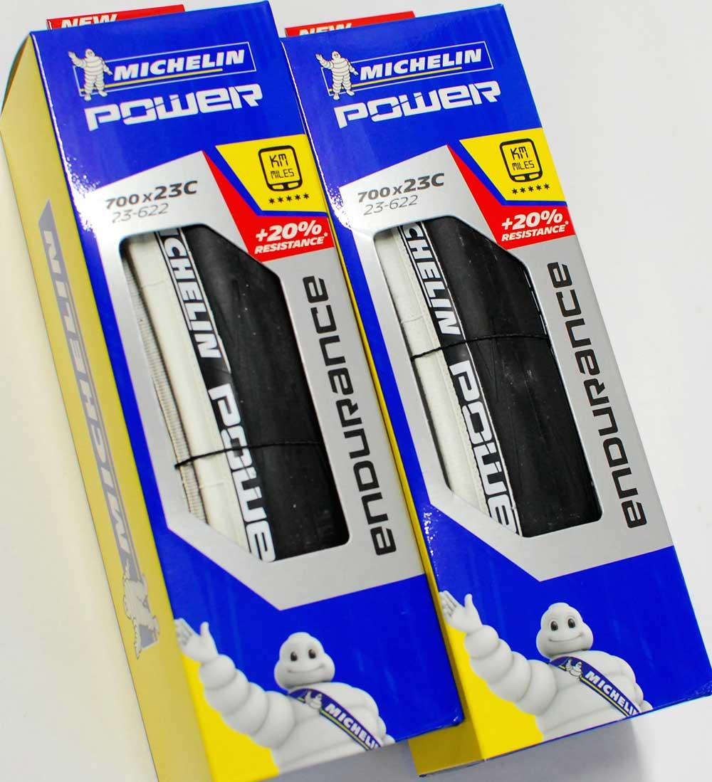 ミシュラン パワー Michelin POWER エンデュランス 700x23C ブラック/ホワイト クリンチャー タイヤ 2本セット