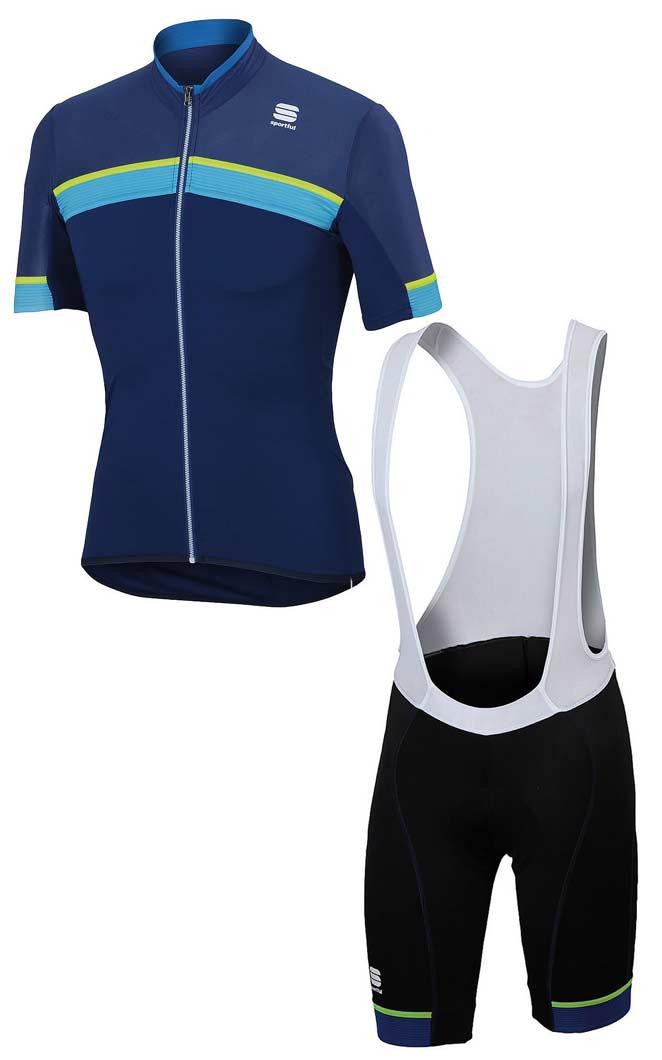 e922d1ce4 SPORTFUL port full PISTA ピスタ short sleeves jersey + GIRO ジロビブショーツ MENS  profit top and bottom set