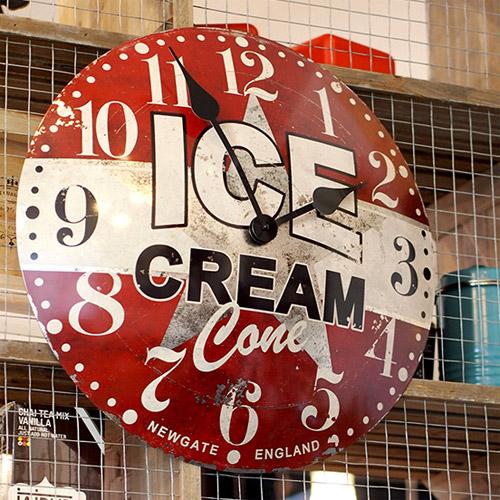 ■ NEW GATE ICE CREAM ADVERTISING WALL CLOCK (ニューゲート アイスクリーム アドバタイジング ウォール クロック) TR-4285 【送料無料】