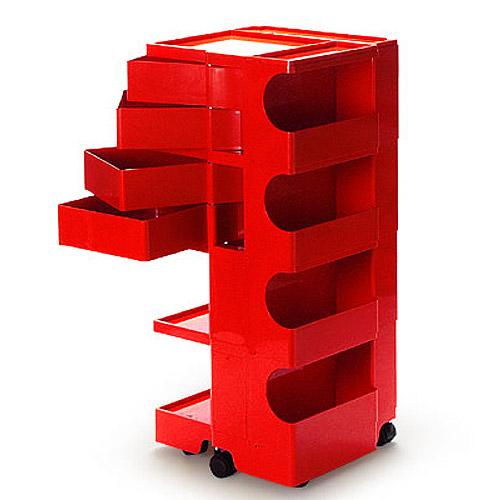 正規輸入品 BOBY WAGON 4×4 RED (ボビーワゴン 4段4トレイ レッド) 【送料無料】