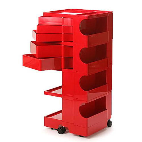 正規輸入品 BOBY WAGON 4×5 RED (ボビーワゴン 4段5トレイ レッド) 【送料無料】