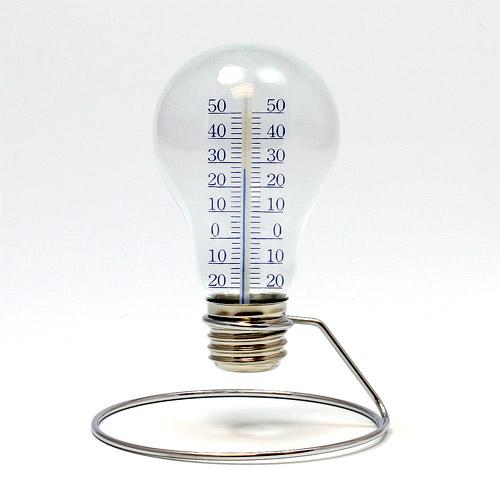 電球の形をした個性的なデザインの温度計バルブサーモメーター BULB 期間限定の激安セール マーケット THERMOMETER バルブ メーター サーモ