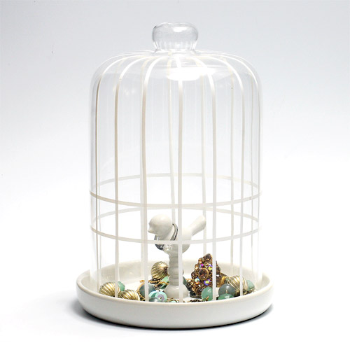 トレイの小鳥にアクセサリーを預けたら ガラス製のケージでそっとフタをしてあげて下さい PINO ACCESSORY HOLDER AS アイテム勢ぞろい 在庫一掃 アクセサリー ホルダー ピノ