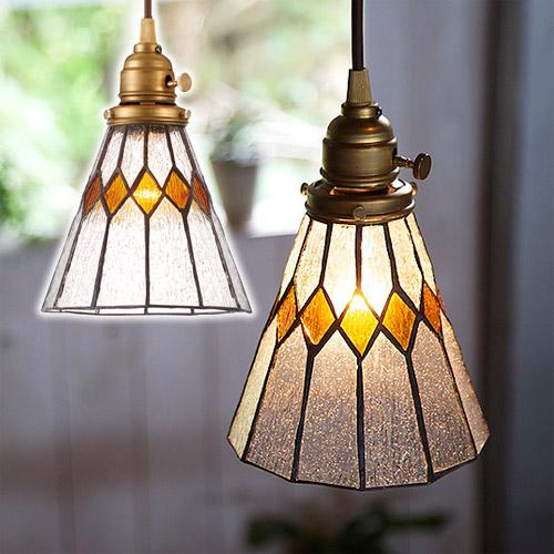 STAINED GLASS PENDANT LIGHT BREAK (ステンド グラス ペンダント ライト ブレイク 白熱灯電球タイプ) AW-0388V 【送料無料】  【AWS】