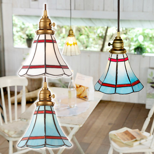 STAINED GLASS PENDANT LIGHT MARIBU (ステンド グラス ペンダント ライト マリブ 白熱灯電球タイプ) AW-0389V 【送料無料】  【AWS】