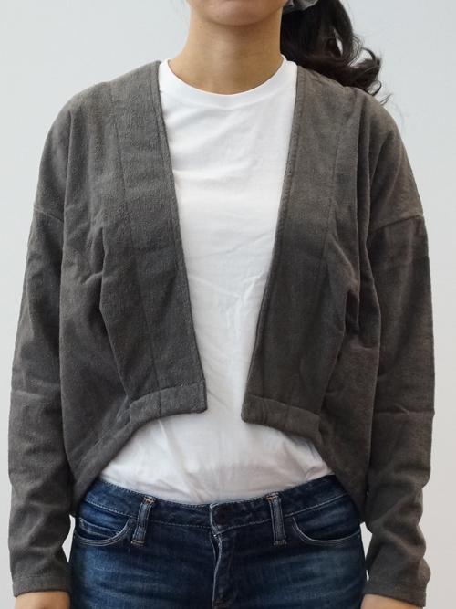 【送料無料】【thingFABRICS/シングファブリックス】TF Tuck blazer -Short Pile- 【ブレザー パイル地】【パイル Tシャツ】【パイル ウェア】【ルームウェア】【タオル地 カーディガン】【今治 タオル】【レディース カーディガン】【TFTP-5301 】