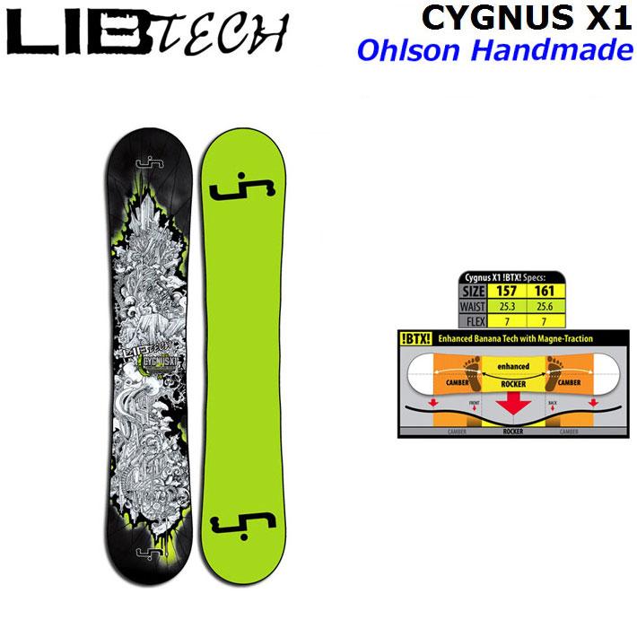 [現品限り特別価格] [旧モデル] LIB TECH リブテック スノーボード CYGNUS X1シグナス BTX ロッカー ツインキャンバー [日本正規品] [outletsale-board]