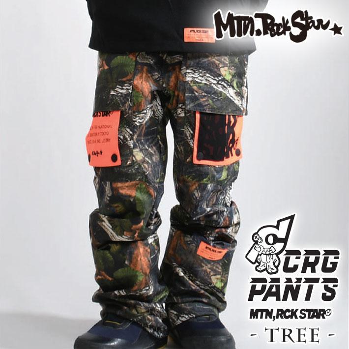 20-21 Mtn. Rock Star マウンテンロックスター スノーボードウェア CARGOT PANTS - TREE - カーゴ パンツ ユニセックス