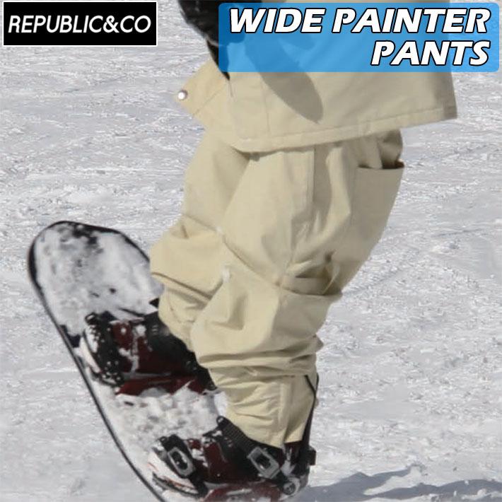 ウィンタースポーツ アウトドアなど幅広く使用可能 21-22 REPUBLICCO Seasonal Wrap入荷 リパブリック パンツ 70%OFFアウトレット WIDE PAINTER 釣り メンズ PANTS ワイドペインターパンツ アウトドア スノーウェア スケートボード