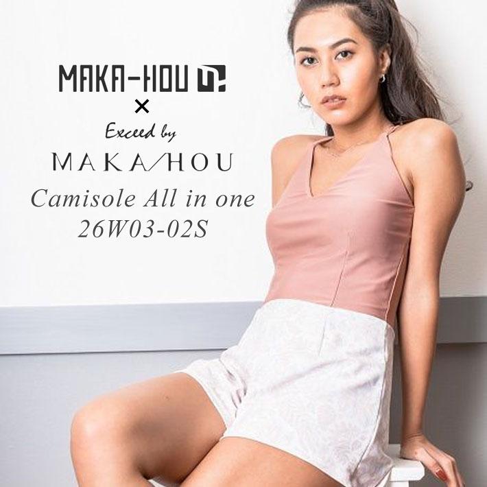 MAKA-HOU マカホー Camisole all in one [26W03-02S] キャミソール オールインワン 水着 キャミソール型水着 ワンピース水着