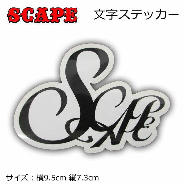 メール便対応 アウトレット 本物 供え SCAPE ステッカー 文字 エスケープ 6 旧モデル