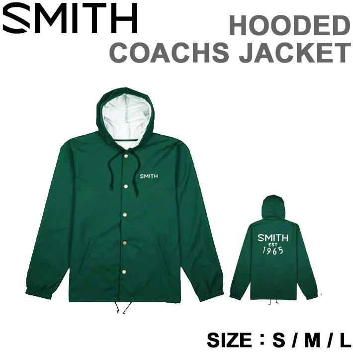 2018 SMITH スミス ユニセックス ジャケット HOODED COACHS JACKET FOREST GREEN アパレル【あす楽対応】