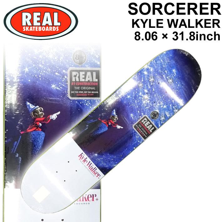 REAL リアル スケートボード デッキ SORCERER KYLE WALKER 8.06×31.8インチ [R-3] スケボー SK8 パーツ SKATE BOARD DECK【あす楽対応】