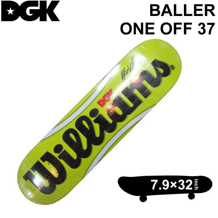 DGK DECK ディージーケー デッキ スティービー ウィリアムス BALLER ONE OFF 37 ボーラー 7.9インチ スケートボード スケボー D-[3]
