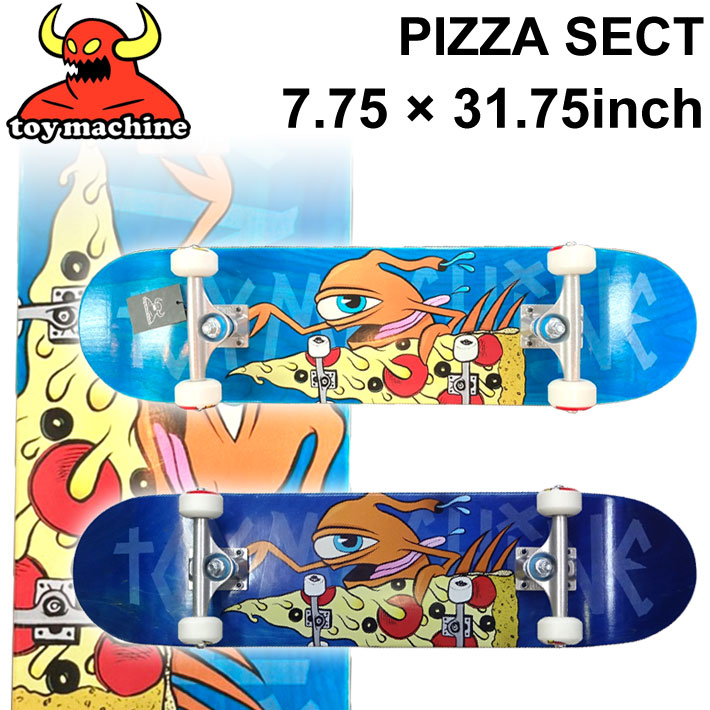 TOY MACHINE トイマシーン スケートボード コンプリート PIZZA SECT (7.75 × 31.75) [TM-102A] [TM-102B] 完成品 スケボー SKATE BOARD COMPLETE【あす楽対応】