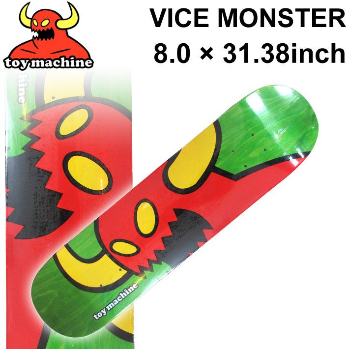 TOY MACHINE トイマシーン スケートボード デッキ VICE MONSTER (8.0 × 31.38) [TM-64A] スケートデッキ スケボー パーツ SK8 SKATE BOARD DECK【あす楽対応】