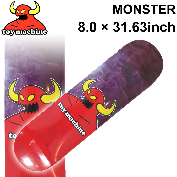 TOY MACHINE トイマシーン スケートボード デッキ MONSTER (8.0 × 31.63) [TM-65A] スケートデッキ スケボー パーツ SK8 SKATE BOARD DECK【あす楽対応】