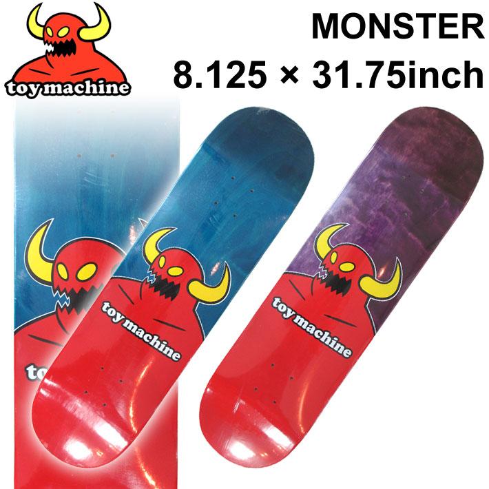 TOY MACHINE トイマシーン スケートボード デッキ MONSTER (8.125 × 31.75) [TM-68A] [TM-68B] スケートデッキ スケボー パーツ SK8 SKATE BOARD DECK【あす楽対応】