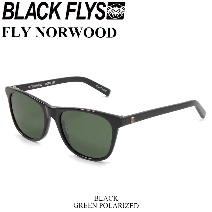 ブラックフライ サングラス BLACK FLYS FLY NORWOOD フライ ノーウッド [BLACK G15 GREEN POL] [BF-1193-03] ジャパンフィット