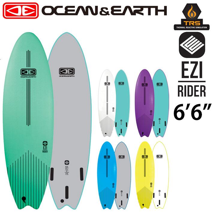 OCEAN&EARTH オーシャンアンドアース サーフボード EZI RIDER SOFT BOARD 6'6 ソフトボード ショートボード 初心者用ボード サーフィン SURFBOARD [送料無料]