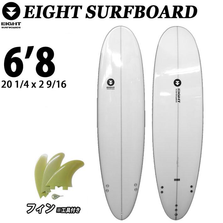 EIGHT SURFBOARD 6'8 エイトサーフボード エントリー用 ショートボード TRI フィン付