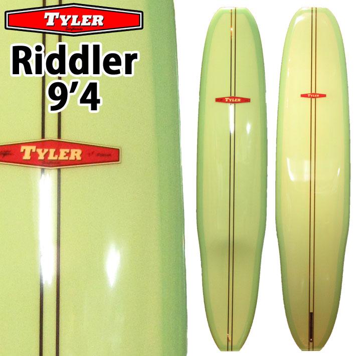 [follows40周年記念特別価格] TYLER SURFBOARDS タイラー サーフボード RIDDLER 9'4 BlueGreen リドラー ロングボード LONG BOARD [条件付き送料無料]