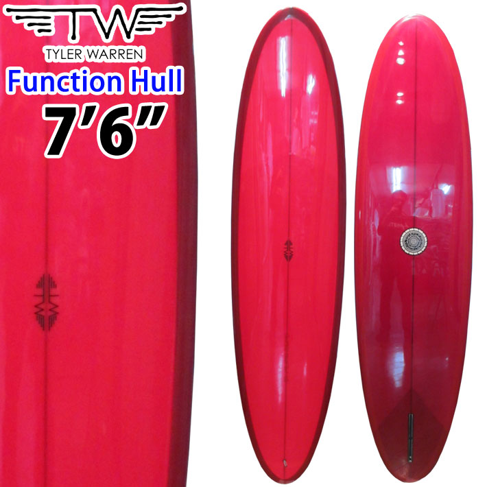 Tyler Warren Surfboards タイラーウォーレン サーフボード Function Hull 7'6 SINGLE FIN シングルフィン ファンボード ミッドレングス [条件付き送料無料]