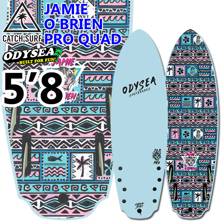 """キャッチサーフ catch surf ソフトボード Jamie O'Brien ジェイミー・オブライエン PRO QUAD [5'8""""] 2020 odysea ソフトサーフボード ショートボード [送料無料]"""