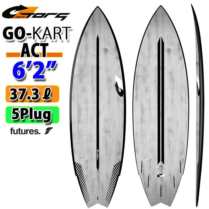 torq surfboard トルク サーフボード ACT GOkart 6'2 [Black Rail] ゴーカート ショートボード future 5Plug [送料無料]
