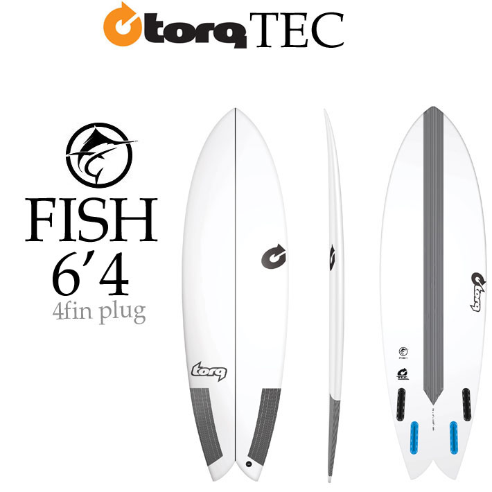 TORQ SurfBoard トルク サーフボード TEC FISH 6'4 EPS エポキシ サーフボード [条件付き送料無料]