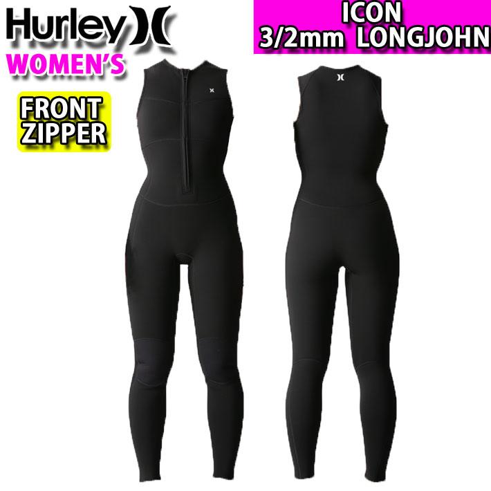 [follow's特別価格] 2020 Hurley ハーレー ウェットスーツ ロングジョン レディース 3mm x 2mm [GZLJIC20] FRONT-ZIP フロントジップ ICON アイコン サーフィン 春夏モデル [送料無料]【あす楽対応】