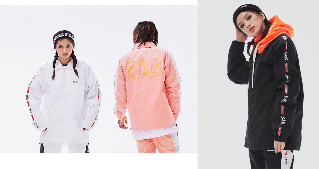 BS RABBIT コーチ ジャケット スノーボード ウェア カラー:全3色ホワイト インディピンク ブラック