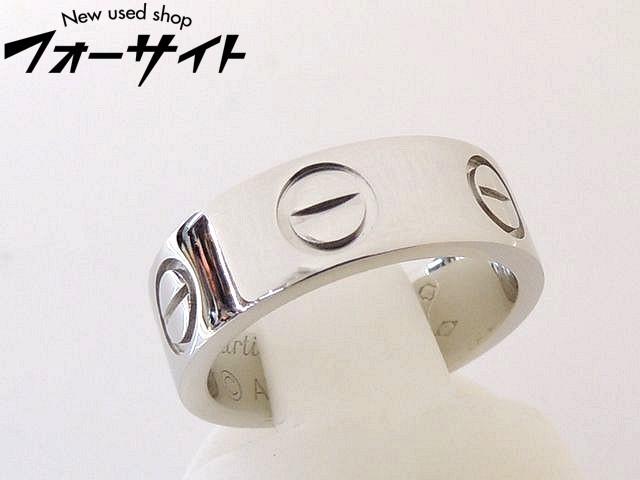 5号(45) 新品同様 Cartier カルティエ■Pt950 プラチナ ラブリング ピンキーリング 指輪□30H