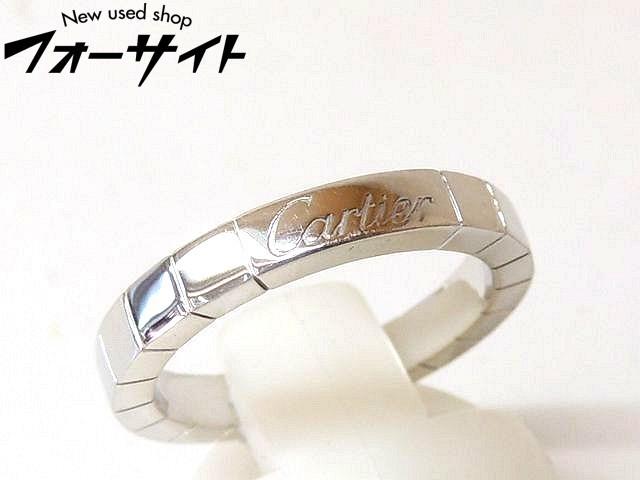新品同様 11号(51) Cartier カルティエ☆K18 WG ホワイトゴールド ラニエール リング 指輪□31A
