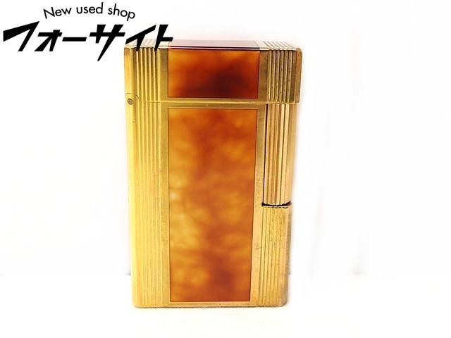熱い販売 ※着火確認済み※ S.T. S.T. 都彭 Dupont デュポン■ライン1 都彭 ゴールドカラー×ブラウン ガス Dupont ライター□31C, テラネット:cec9e39e --- clftranspo.dominiotemporario.com