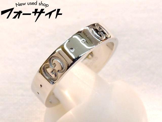 新品同様品 GUCCI(グッチ) ☆サイズ8.5号(9) K18 WG ホワイトゴールド アイコンリング・指輪∞レディース 31A