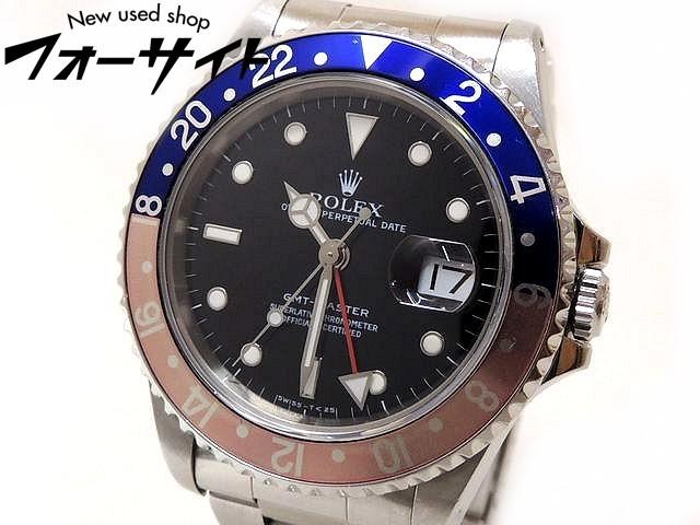 ROLEX ロレックス■16700 T番 GMTマスター 赤青ベゼル ステンレス ブラック 文字盤 メンズ 自動巻き 時計□1F