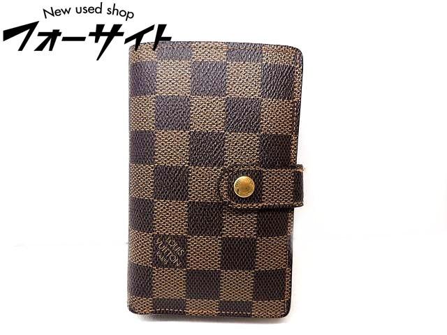 Louis Vuitton ヴィトン■N61664 ヴィエノワ ダミエ 2つ折り がま口 コンパクト 財布□1G