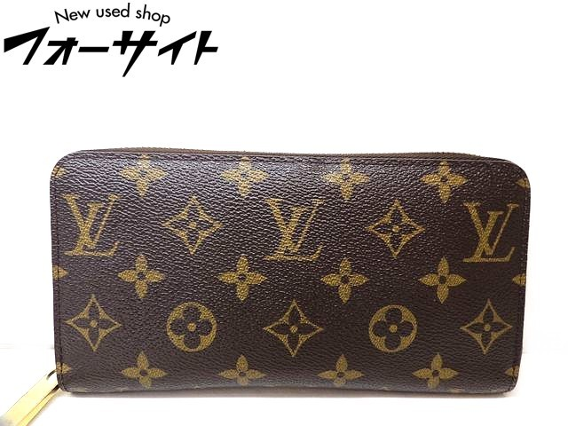 Louis Vuitton ヴィトン■M41895 ジッピーウォレット モノグラム フューシャ ラウンドファスナー 財布□1I