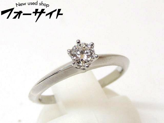8号 新品同様 TIFFANY&Co. ティファニー■プラチナ Pt950 ダイヤ 0.19ct ソリティア リング 指輪□1H