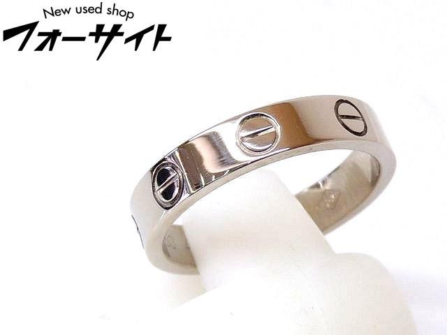 9号(49) 新品同様 Cartier カルティエ☆K18 WG ホワイトゴールド ミニ ラブ リング 指輪□1K