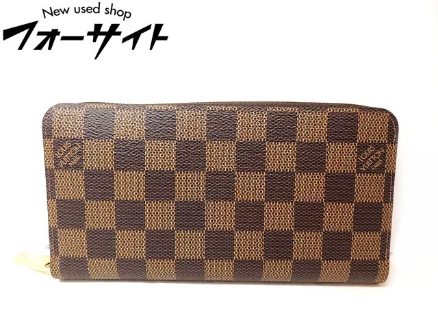 Louis Vuitton ヴィトン■N41661 GI4159 ダミエ ジッピーウォレット ラウンドファスナー 財布□メンズ レディース 1K