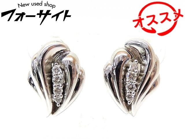 ジュネ 営業 イヤリング ■ K18 K14 WG ダイヤ ホワイトゴールド アクセサリー 現金特価 Jeunet 0.33ct 2K