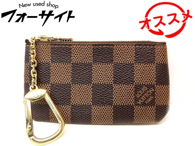 <title>ヴィトン コインケース ■ N62658 ポシェット クレ ダミエ キーリング付き 小銭入れ 買収 財布 Louis Vuitton 2K</title>