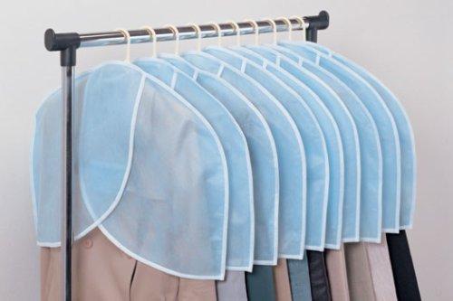 ほこりよけ 衣類カバー ハンガーを通して使用 衣類保護 感謝価格 スーツ肩だけホコリよけ 送料無料 生活雑貨 10枚組 定価