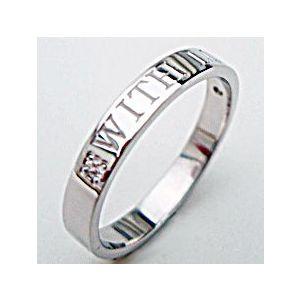 【送料無料】人気のホワイトゴールドメッセージリング【刻印・文字彫り無料】結婚指輪・マリッジリング・記念日・ギフト